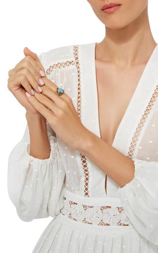 18 K Gold Small Opal Branch Ring by ANNETTE FERDINANDSEN Now Available on Moda Operandi