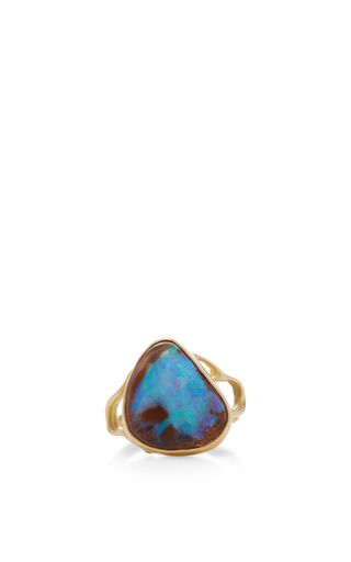 Medium annette ferdinandsen blue 18k gold small opal branch ring