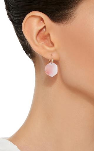 18 K Gold Medium Rose Petal Earrings by ANNETTE FERDINANDSEN Now Available on Moda Operandi