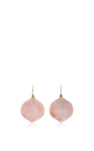Medium annette ferdinandsen pink 18k gold medium rose petal earrings