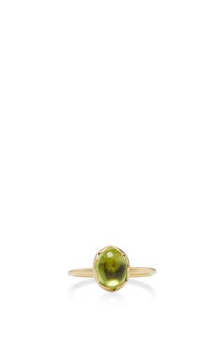 18 K Gold Peridot Egg Stacking Ring by ANNETTE FERDINANDSEN Now Available on Moda Operandi