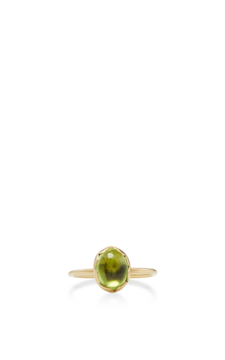 Medium annette ferdinandsen gold 18k gold peridot egg stacking ring