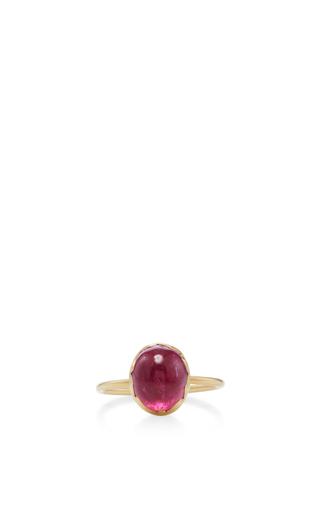 Medium annette ferdinandsen pink 18k gold rubellite egg ring