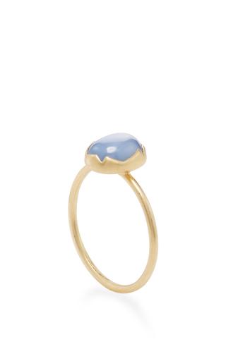 18 K Gold Sapphire Stacking Ring by ANNETTE FERDINANDSEN Now Available on Moda Operandi