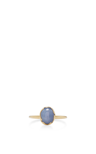 Medium annette ferdinandsen blue 18k gold sapphire stacking ring