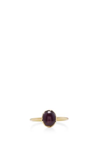 Medium annette ferdinandsen red 18k gold ruby stacking ring