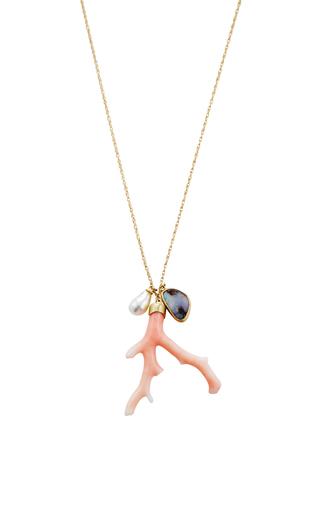 18 K Gold Ocean Charm Necklace by ANNETTE FERDINANDSEN Now Available on Moda Operandi