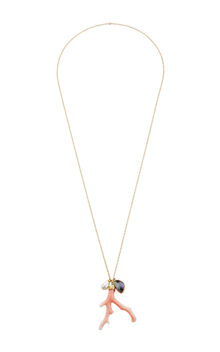 Medium annette ferdinandsen white 18k gold ocean charm necklace