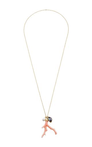 Medium annette ferdinandsen white 18k gold ocean charm necklace