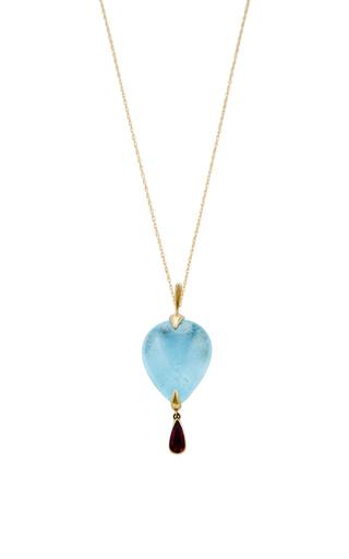 18 K Gold Topaz Bird Necklace by ANNETTE FERDINANDSEN Now Available on Moda Operandi