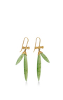 18 K Gold Jade Bamboo Earrings by ANNETTE FERDINANDSEN Now Available on Moda Operandi