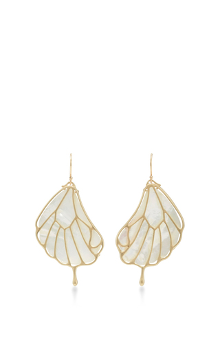 Medium annette ferdinandsen white 18k gold papillion earring