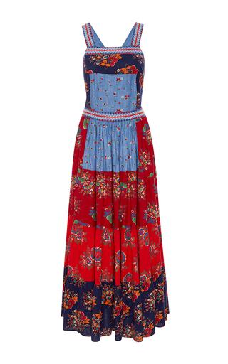 Medium ulla johnson multi lune patchwork floral dress