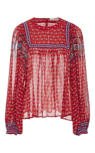 Medium ulla johnson multi minou printed blouse