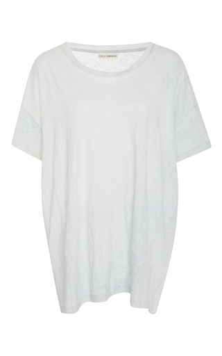 Medium ulla johnson white tanya linen tee