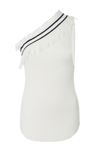 Medium ulla johnson white margaux one shoulder top