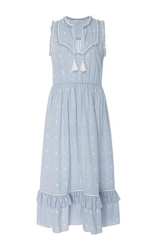 Medium ulla johnson light blue maelle sleeveless midi dress