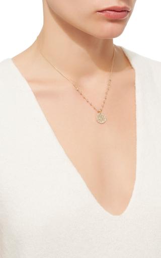 14 K Gold Diamond Lab Stations Pendant Necklace by DANA KELLIN Now Available on Moda Operandi