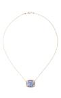 14 K Gold Square Pendant Necklace by DANA KELLIN Now Available on Moda Operandi