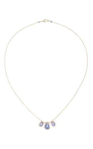 Medium dana kellin blue 14k gold tanzanite pendant necklace