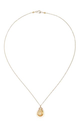14 K Gold Opal Pendant Necklace by DANA KELLIN Now Available on Moda Operandi