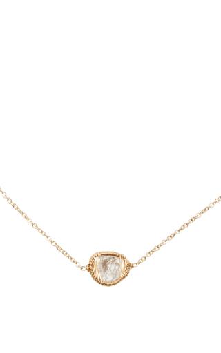 14 K Gold Grey Diamond Pendant Necklace by DANA KELLIN Now Available on Moda Operandi