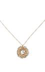 14 K Gold Diamond Slice Pendant Necklace by DANA KELLIN Now Available on Moda Operandi