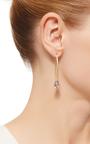 14 K Gold Marquis Hoop Pendant Earring by DANA KELLIN Now Available on Moda Operandi