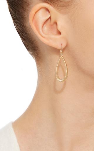 14 K Gold Wrapped Tear Drop Earring by DANA KELLIN Now Available on Moda Operandi