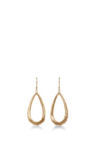 Medium dana kellin gold 14k gold wrapped tear drop earring