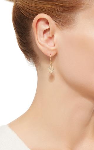 14 K Gold Pave Diamond Tear Drop Earring  by DANA KELLIN Now Available on Moda Operandi