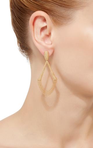 18 K Yellow Gold Drizzle Earrings by CARLA AMORIM Now Available on Moda Operandi