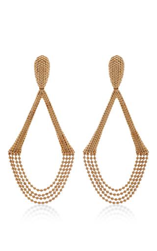 Medium carla amorim gold 18k yellow gold drizzle earrings