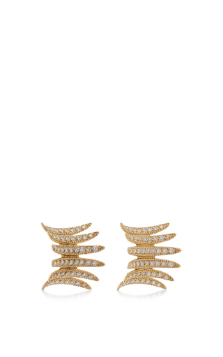 18 K Gold Brasilia Diamond Studs by CARLA AMORIM Now Available on Moda Operandi