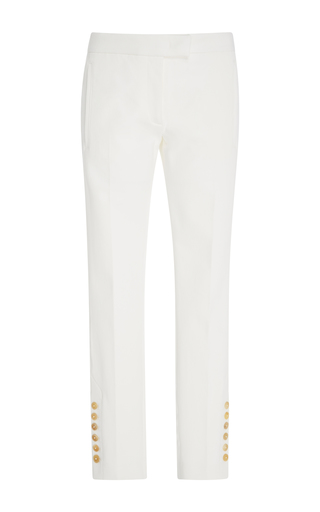 Medium joseph off white finley straight leg button trousers