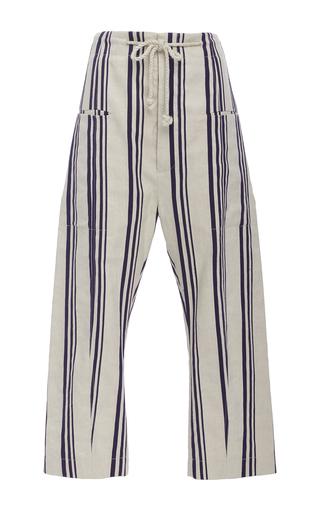 Medium joseph stripe ombria cropped pant