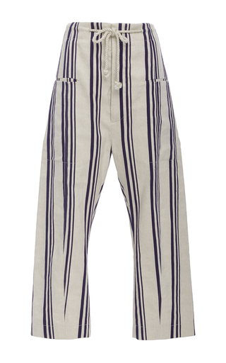 Medium joseph stripe ombria cropped pant