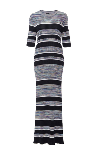 Medium joseph stripe elmore midi striped sweater dress