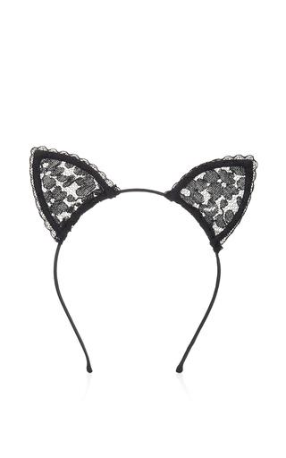 Medium fleur du mal black lace cat ears