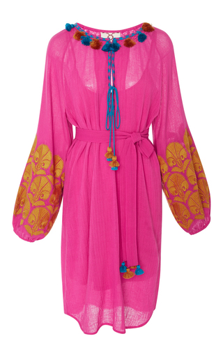 Medium figue pink coco embroidered dress