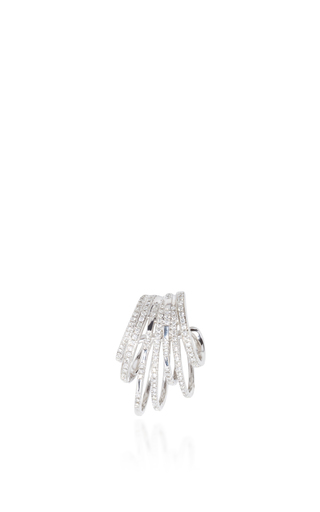White Gold And Diamond Earcuff by JOELLE JEWELLERY Now Available on Moda Operandi