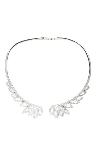 Medium joelle jewellery silver white gold and diamond necklace