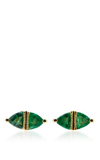 Medium ila collection gold sage earrings