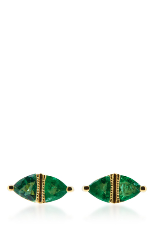 Medium ila collection gold sage earrings