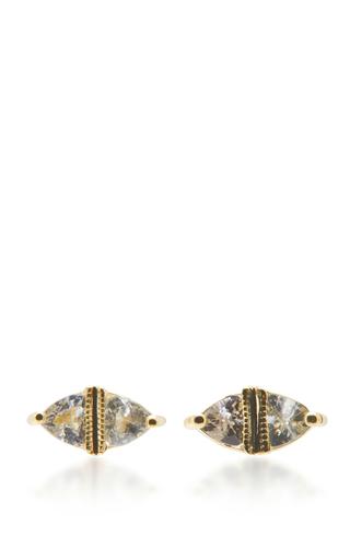 Medium ila collection gold sage earrings 2
