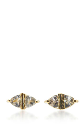 Medium ila collection gold sage earrings 2