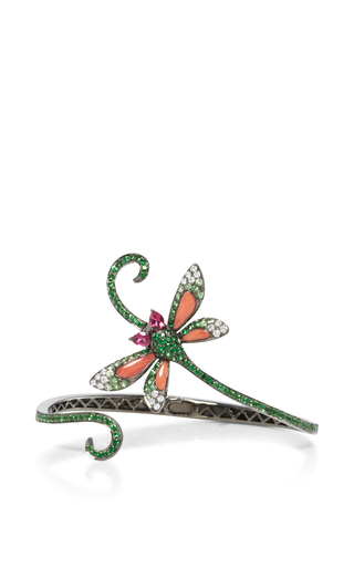 Medium wendy yue green coral butterfly cuff