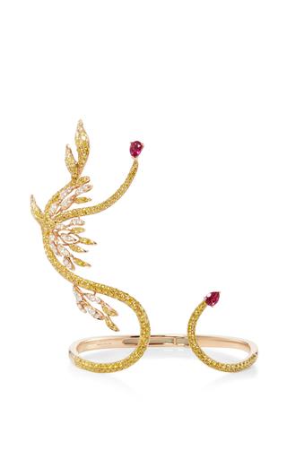 Medium wendy yue gold golden diamond cuff