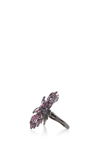 Black Diamond Floating Ring by WENDY YUE Now Available on Moda Operandi