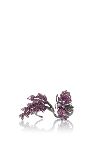Medium wendy yue pink black diamond floating ring
